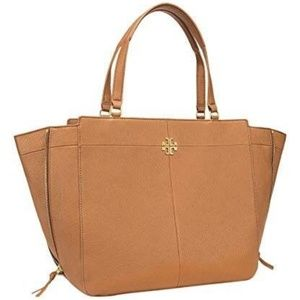 """New w/Tags!! TORY BURCH Ivy Leather """"bark"""" Tan"""